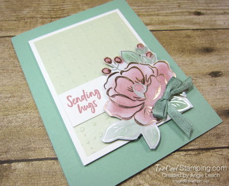 Flowering foils sponged blooms - mint 2