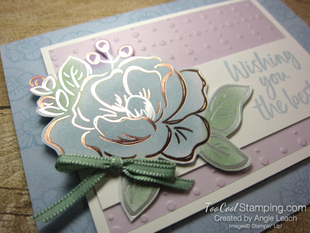 Flowering foils sponged blooms - seaside 3