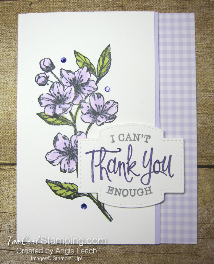 Forever Blossoms Thank You - purple posy