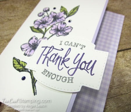 Forever Blossoms Thank You - purple posy 2