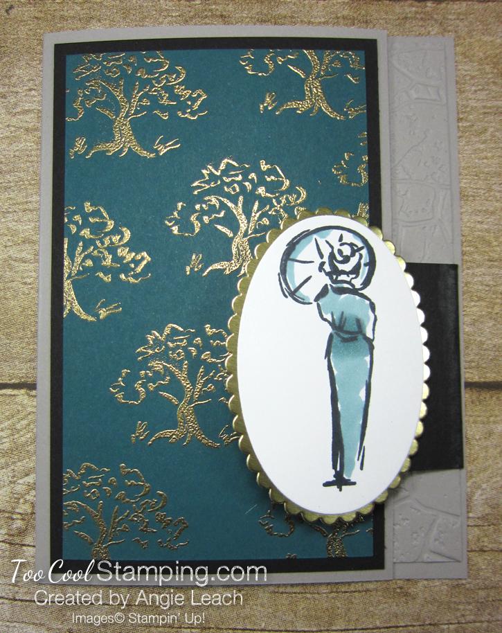 Power of hope embossed trees - peacock