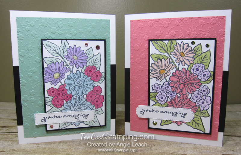 Ornate style colored floral - two cool
