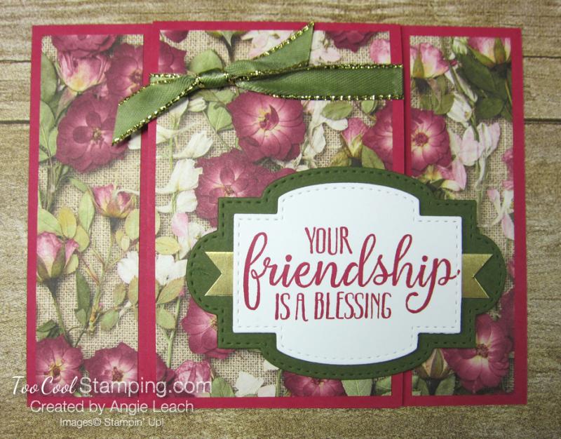 So Sentimental center front flap card - pressed petals 1