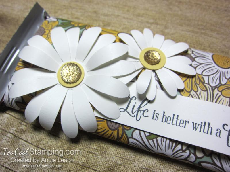 Ornate garden chocolate bar - daisies 3