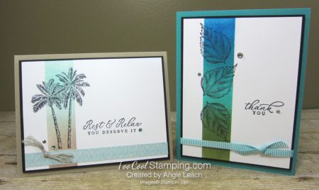 Timeless Tropical Sponged Highlight cards - two cool