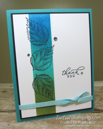 Timeless Tropical Sponged Highlight cards - thank you