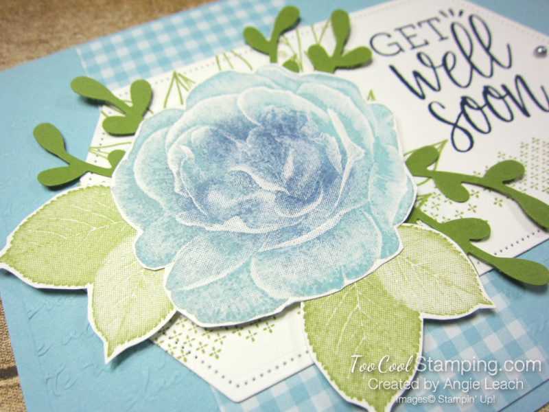 Healing Hugs Rose with Sprigs - balmy blue 3