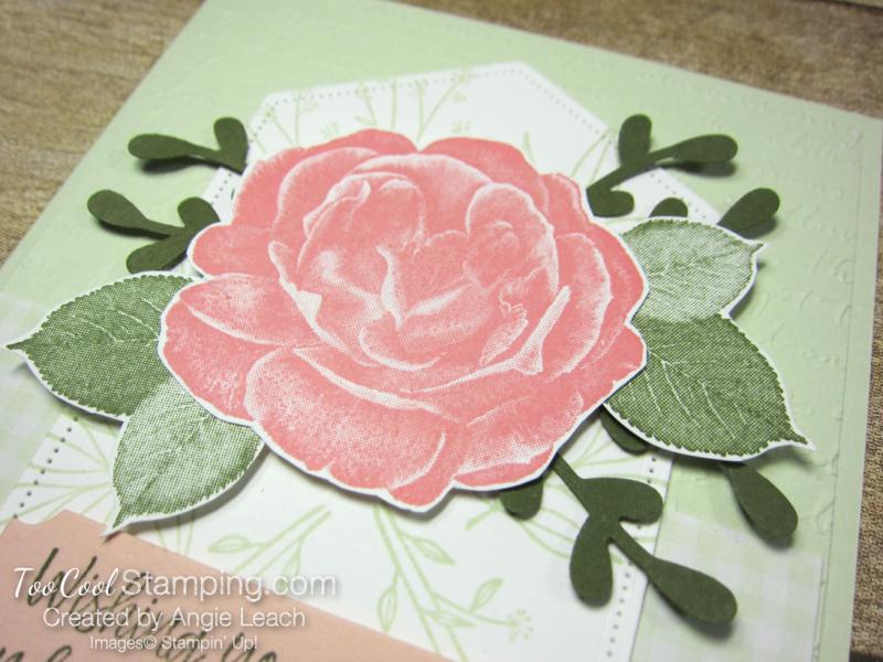 Healing Hugs Rose with Sprigs - sea foam 3