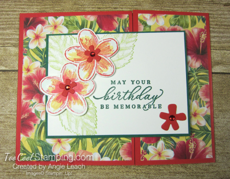 Timeless Tropical off-set gate fold - poppy