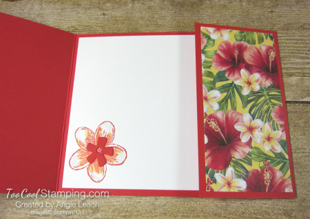 Timeless Tropical off-set gate fold - poppy 3