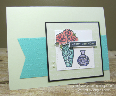 Vibran Vases Happy Birthday Cards - seafoam 2
