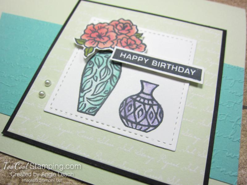 Vibran Vases Happy Birthday Cards - seafoam 3