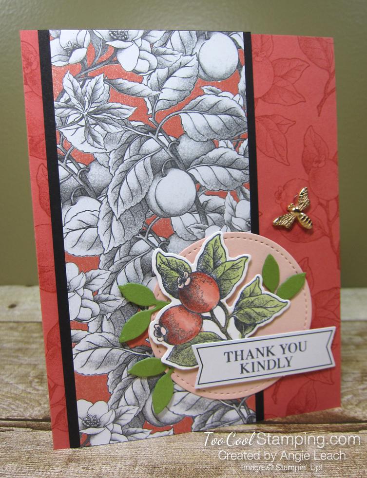 Botanical prints terracotta stamped background 1