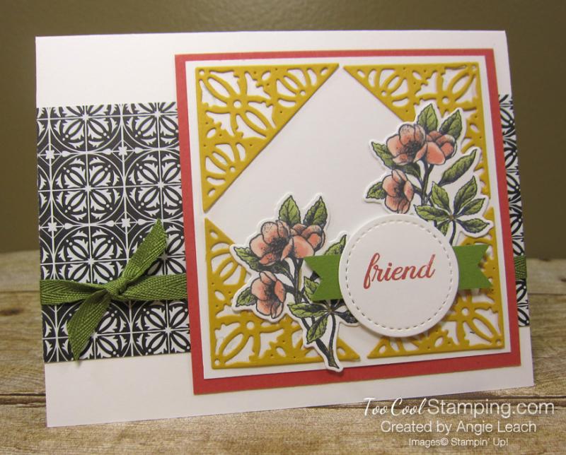 Botanical prints crushed curry decorative corners 1