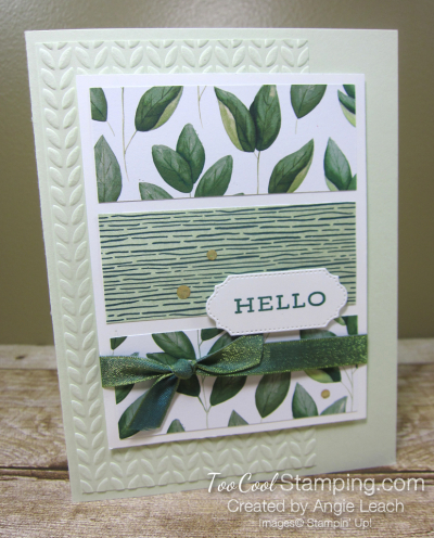 Forever Greenery - Hello 3-Panel Card 1