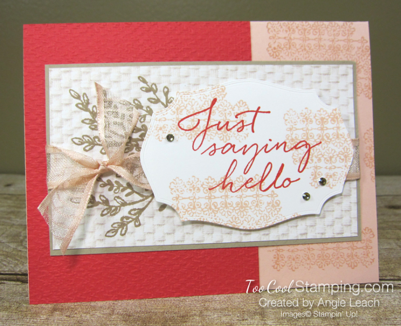 Tasteful touches just saying hello - petal