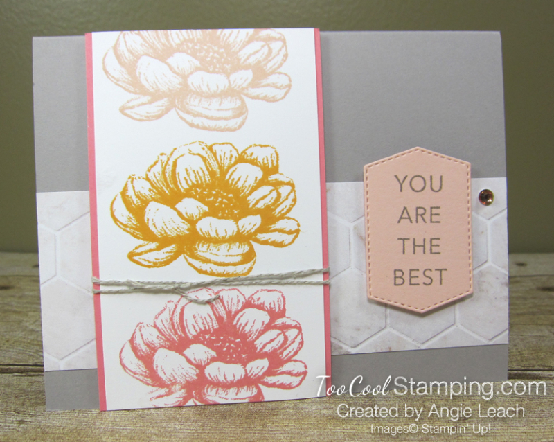 Tasteful touches repeated stamping - flower