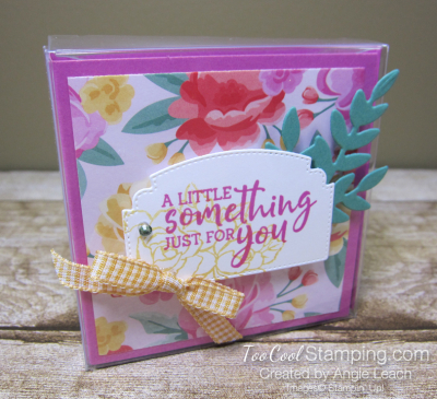 Flowers For Every Season 3x3 Acetate Treat Box - pink gingham 1
