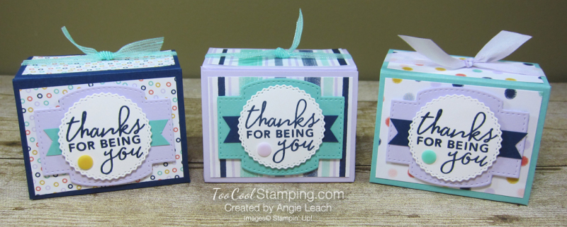 Playing with patterns tapered boxes - three cool