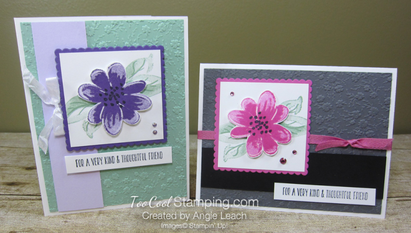 Gorgeous Posies Kit Cards - Thoughtful Friend  two cool