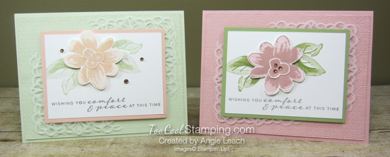 Gorgeous Posies Kit Cards - Comfort & Peace two cool