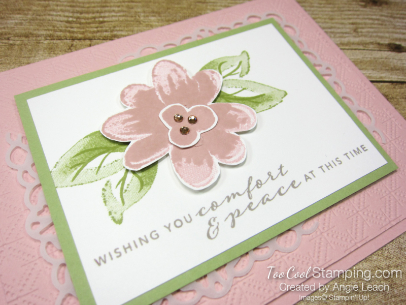 Gorgeous Posies Kit Cards - Comfort & Peace blusing 2