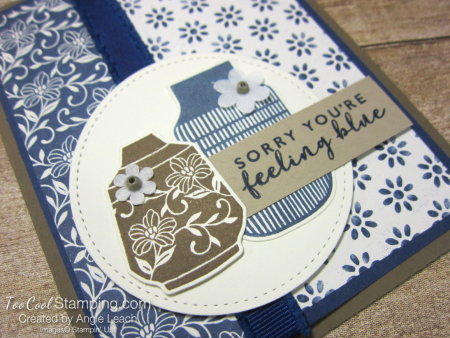 Boho indigo circle pots - feeling blue 2