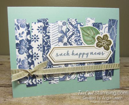 Boho indigo strips - such happy news 1
