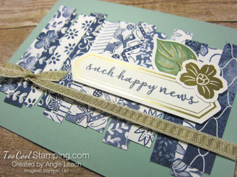 Boho indigo strips - such happy news 2