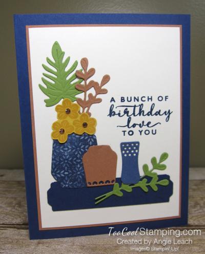 Boho indigo still-life vases 1
