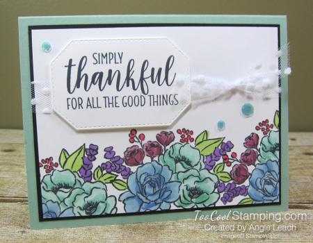 Jar of Flowers border cards - mint 1