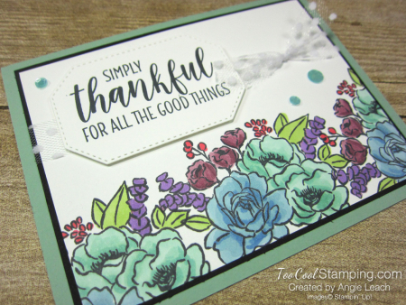 Jar of Flowers border cards - mint 2
