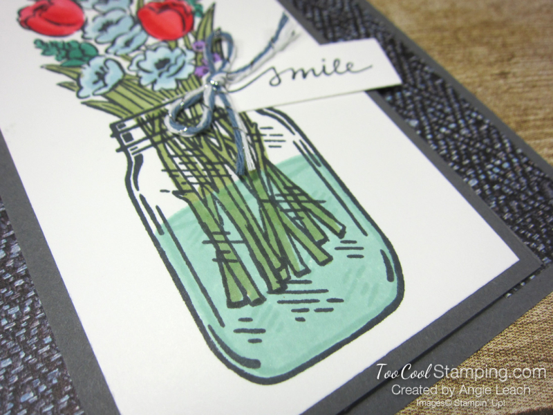 Jar of flowers front flap smile - gray 4