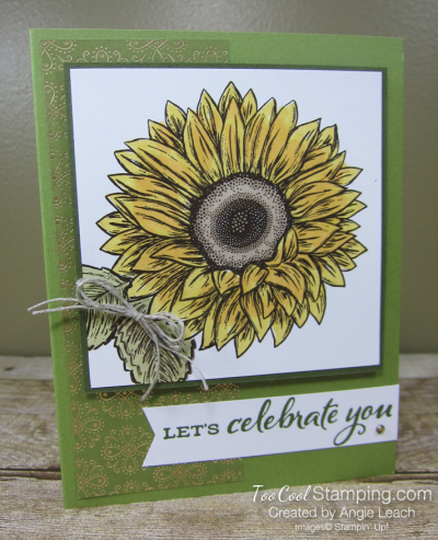 Celebrate Sunflowers Let's Celebrate You - olive