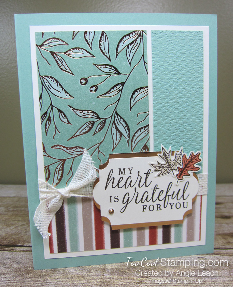 Beautiful autumn grateful heart - mint 1