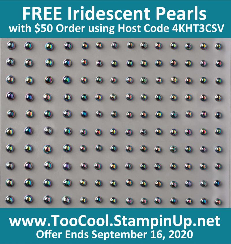Free iridescent pearls banner