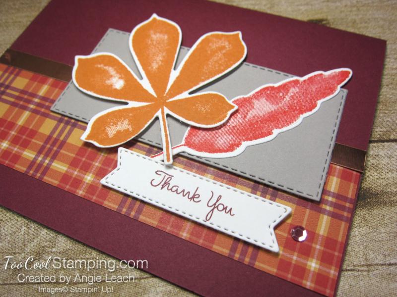 Love of leaves plaid thank you - merlot 2