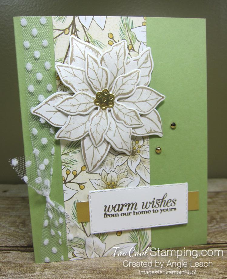 Poinsettia Petals Warm Wishes cards - pear petals