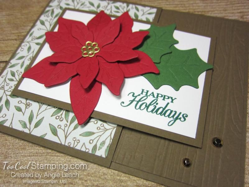 Poinsettia Petals Happy Holidays cards - suede 2