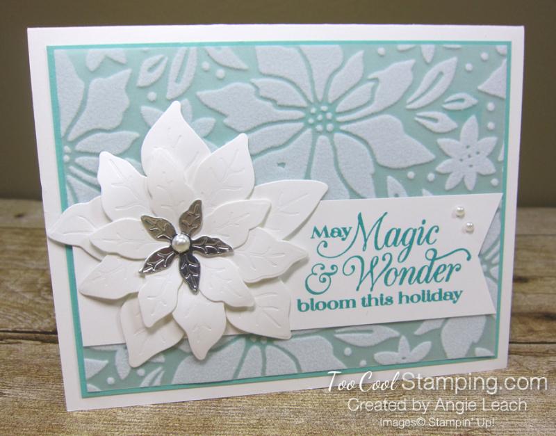 Pretty Poinsettia Plush Overlay cards - coastal 1