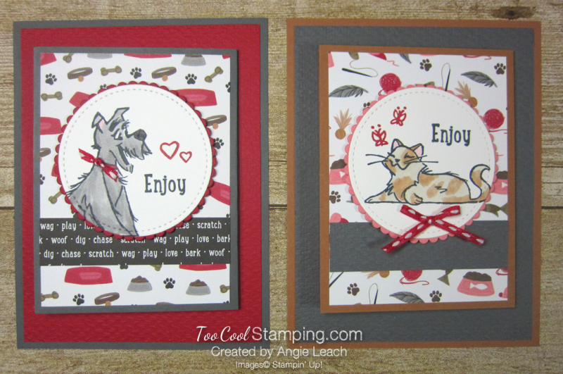 Playful pets z-fold gift card holders - two cool