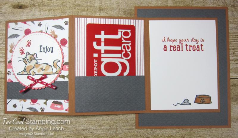 Playful pets z-fold gift card holders - cat 4