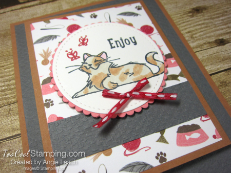 Playful pets z-fold gift card holders - cat 2