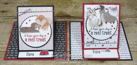 Playful pets real treat easel card - two cool