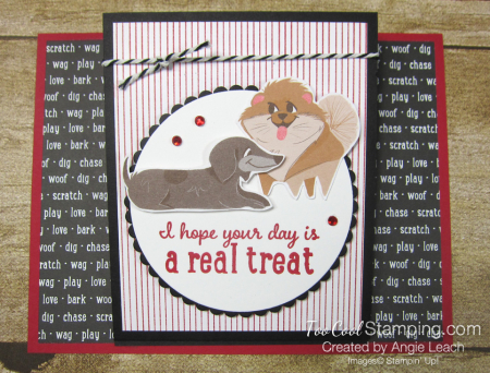 Playful pets real treat easel card - dog