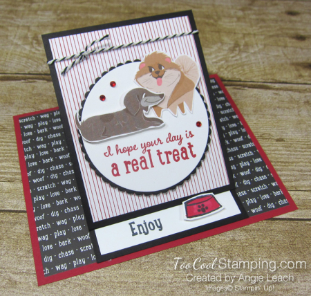 Playful pets real treat easel card - dog 1