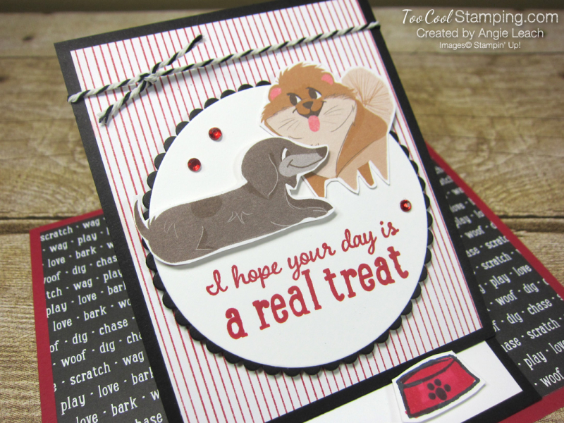 Playful pets real treat easel card - dog 2