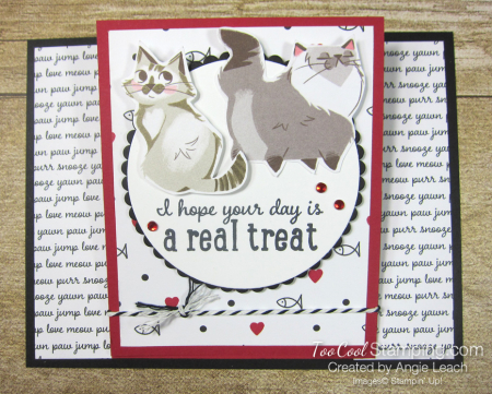 Playful pets real treat easel card - cat 1