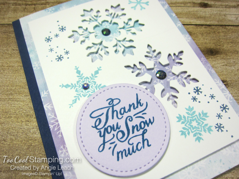 Snowflake Wishes Recessed Window - navy 2