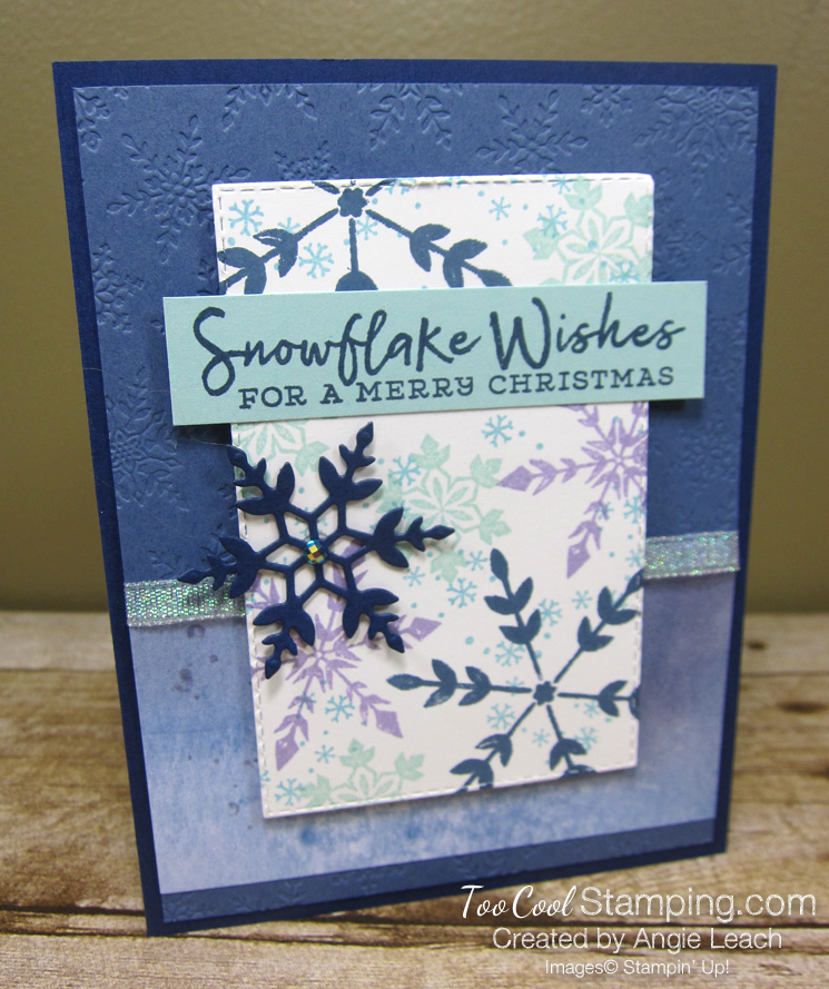 Snowflake Wishes For a Merry Christmas - navy 1